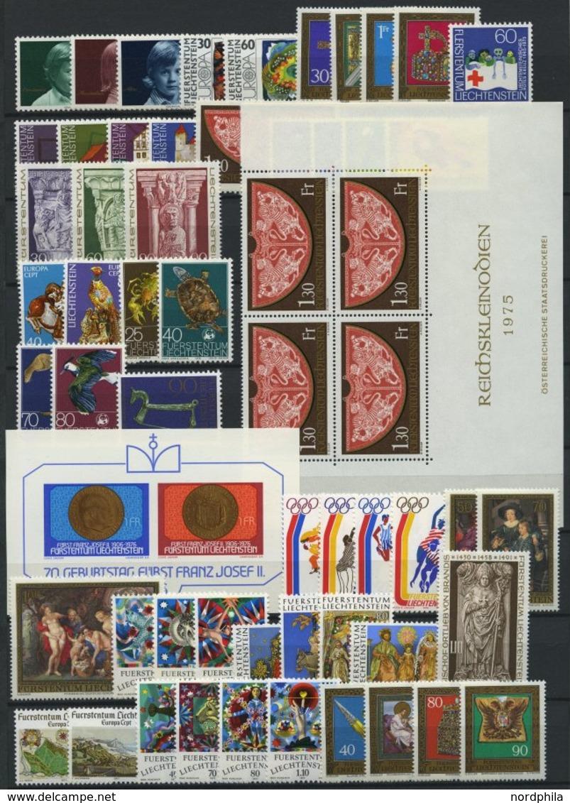 SAMMLUNGEN **, Komplette Postfrische Sammlung Liechtenstein Von 1971-80, Prachterhaltung - Liechtenstein