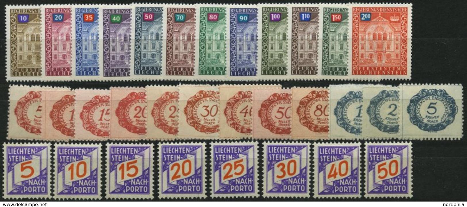 SAMMLUNGEN, LOTS *, **, Fast Kompletter Ungebrauchter Sammnlungsteil Liechtenstein Von 1971-86 Incl. Dienst- Und Portoma - Liechtenstein