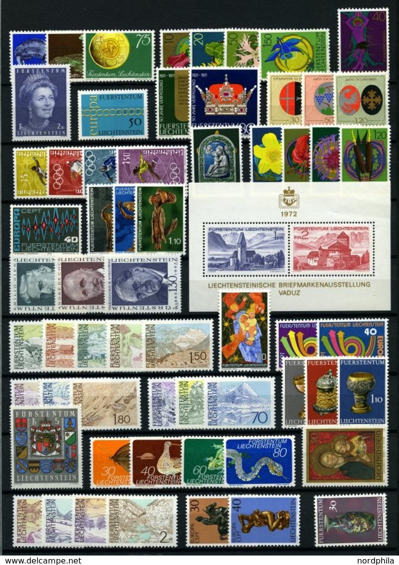 SAMMLUNGEN, LOTS *, **, Kompletter Ungebrauchter Sammlungsteil Liechtenstein Von 1971-86 Incl. Einiger Dienst- Und Porto - Liechtenstein