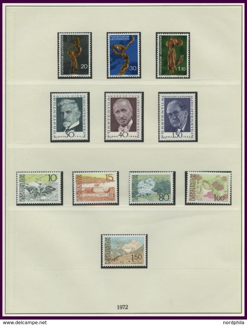 SAMMLUNGEN, LOTS **, Komplette Postfrische Sammlung Liechtenstein Von 1972-92 Im Lindner Falzlosalbum, Prachterhaltung - Liechtenstein