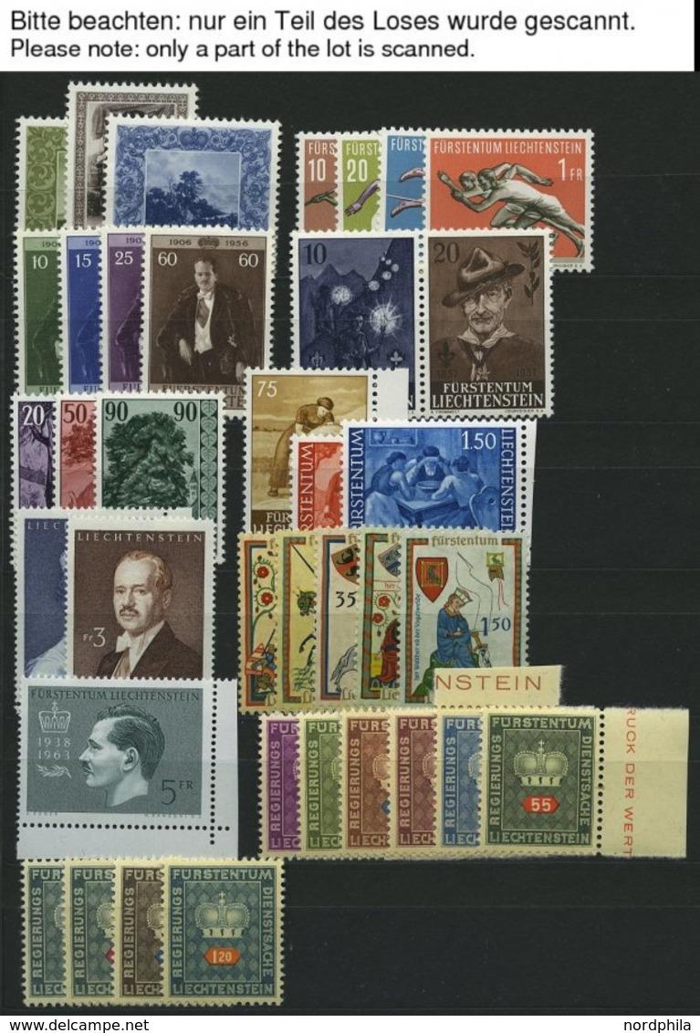 SAMMLUNGEN, LOTS **, 1954-99, Postfrische Partie Verschiedener Kompletter Ausgaben, Pracht, Mi. Ca. 450.- - Liechtenstein