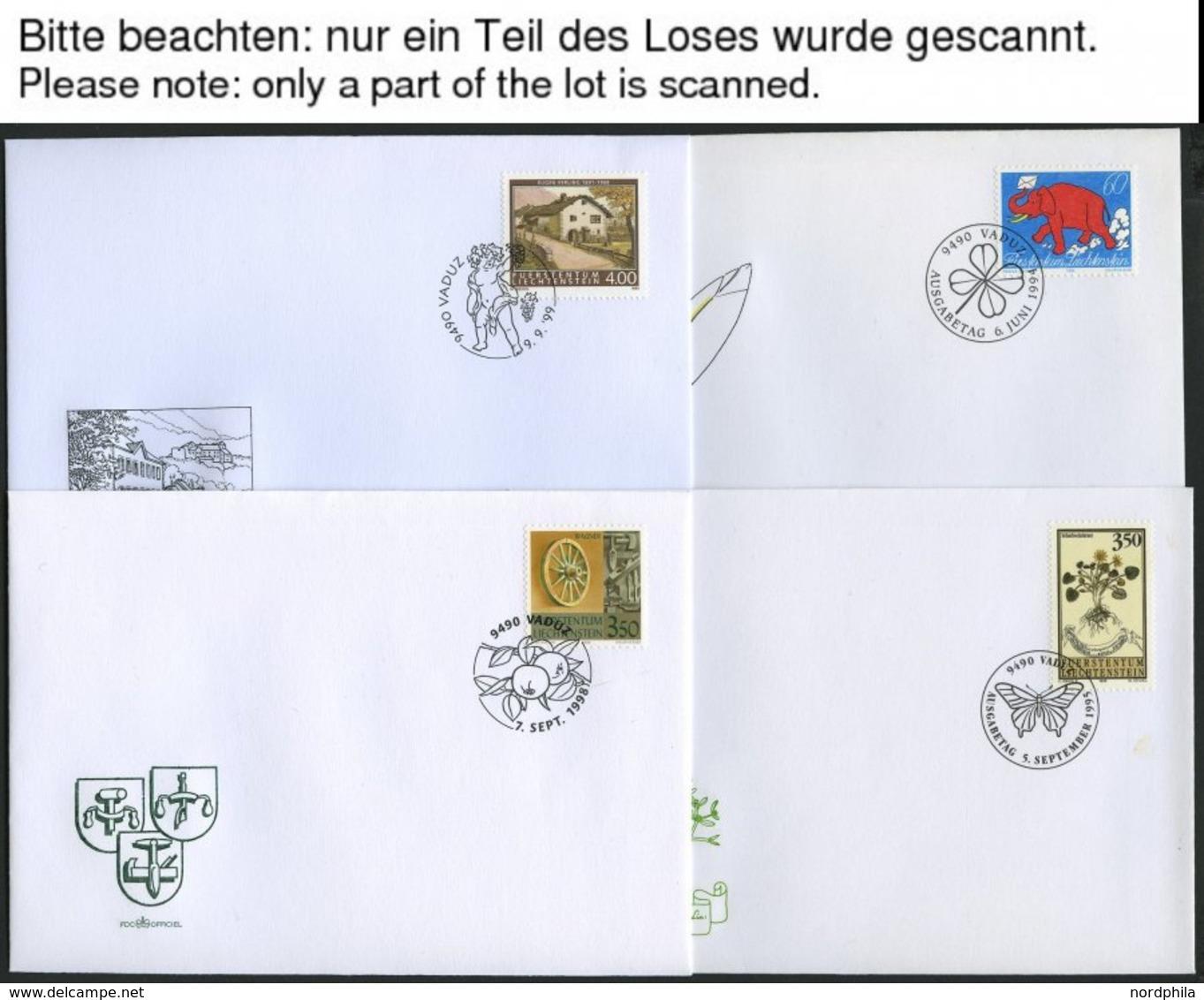 SAMMLUNGEN, LOTS 1994-99, Partie Verschiedener Kompletter Ausgaben Auf FDC, Pracht, Mi. Ca. 200.- - Liechtenstein