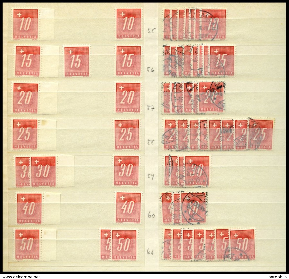 PORTOMARKEN O,*,** , Kleine Dublettenpartie Portomarken Von 1910-38, Fast Nur Prachterhaltung, Mi. 550.- - Postage Due