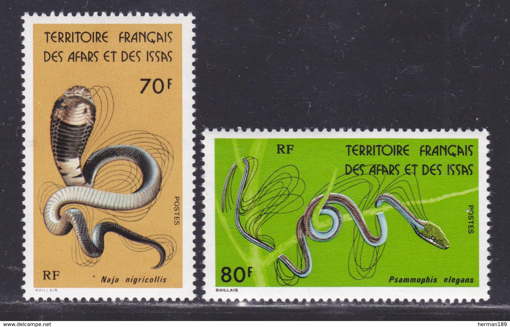 AFARS ET ISSAS N°  436 & 437 ** MNH Neufs Sans Charnière, (D8064) Animaux, Serpents -1976 - Afars & Issas (1967-1977)