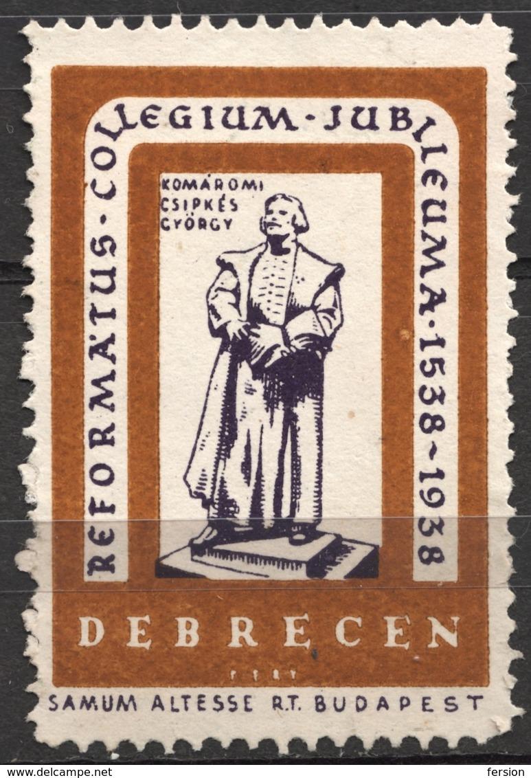 Reformed College Anniv. 1938 DEBRECEN CINDERELLA VIGNETTE LABEL Samum Altesse Cigarette Paper Cigar Box Industry - Christianisme