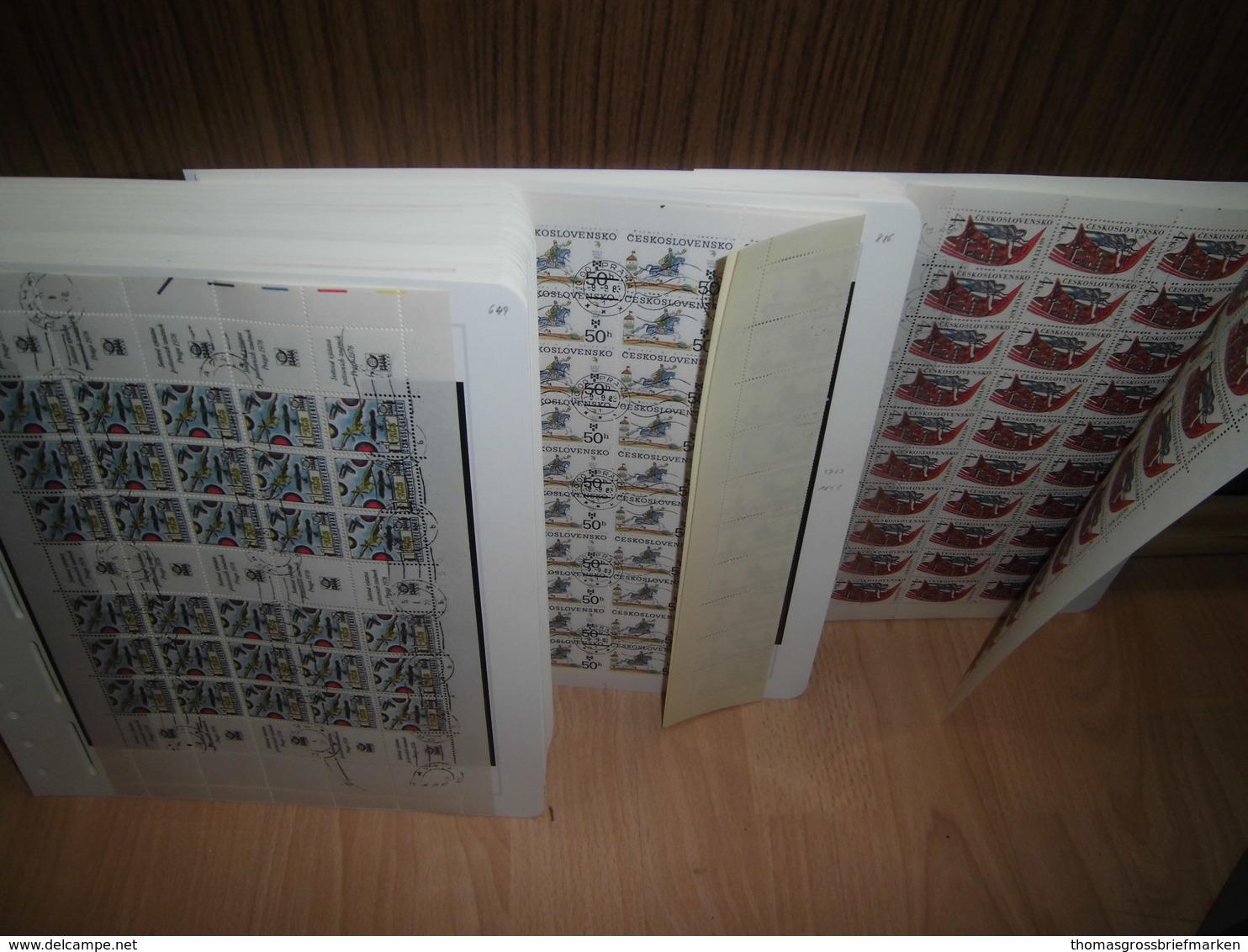 Bogen-Sammlung Tschechoslowakei 1978-1988 Gestempelt 155 Stück CSFR (80097) - Tschechoslowakei/CSSR