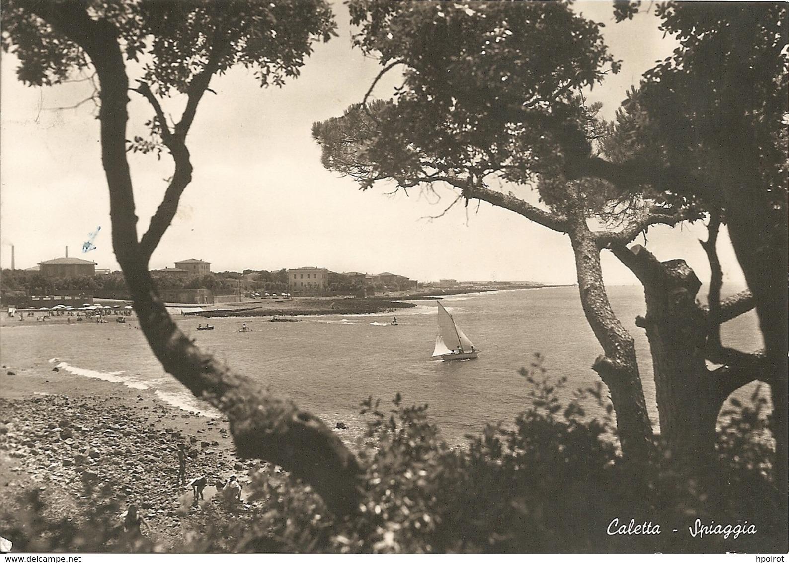 CALETTA Località Di ROSIGNANO MARITTIMO - SPIAGGIA - VIAGGIATA 1952 - (rif. C29) - Livorno