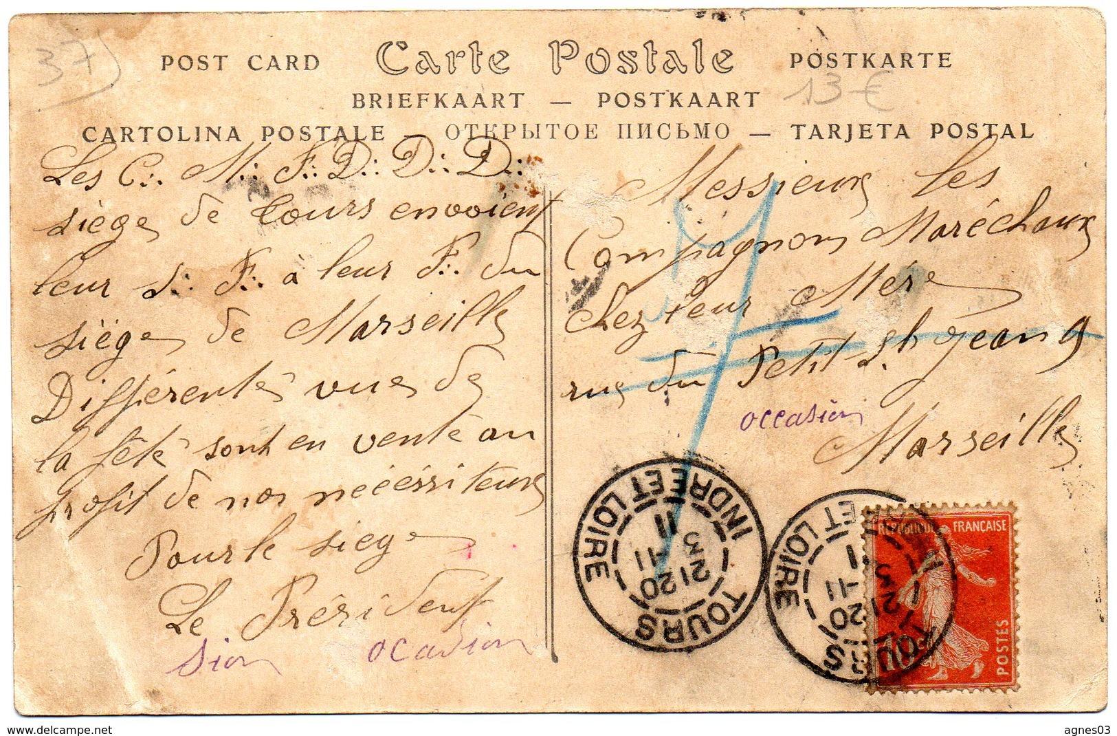 TOURS   - Fete Compagnonnique 1911- Compagnons Marechaux Ferrants Et Bourreliers Harnacheurs - Tours