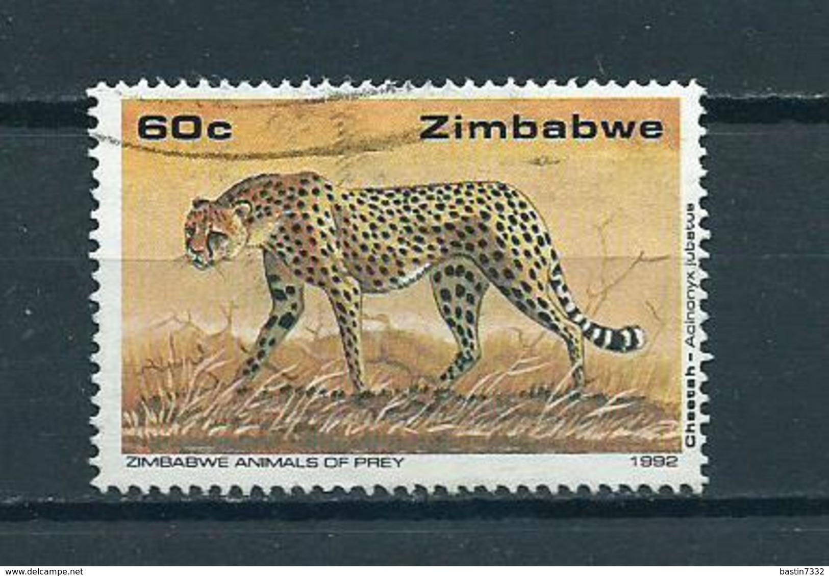 1992 Zimbabwe 60 Cent Animals,dieren,tiere Used/gebruikt/oblitere - Zimbabwe (1980-...)