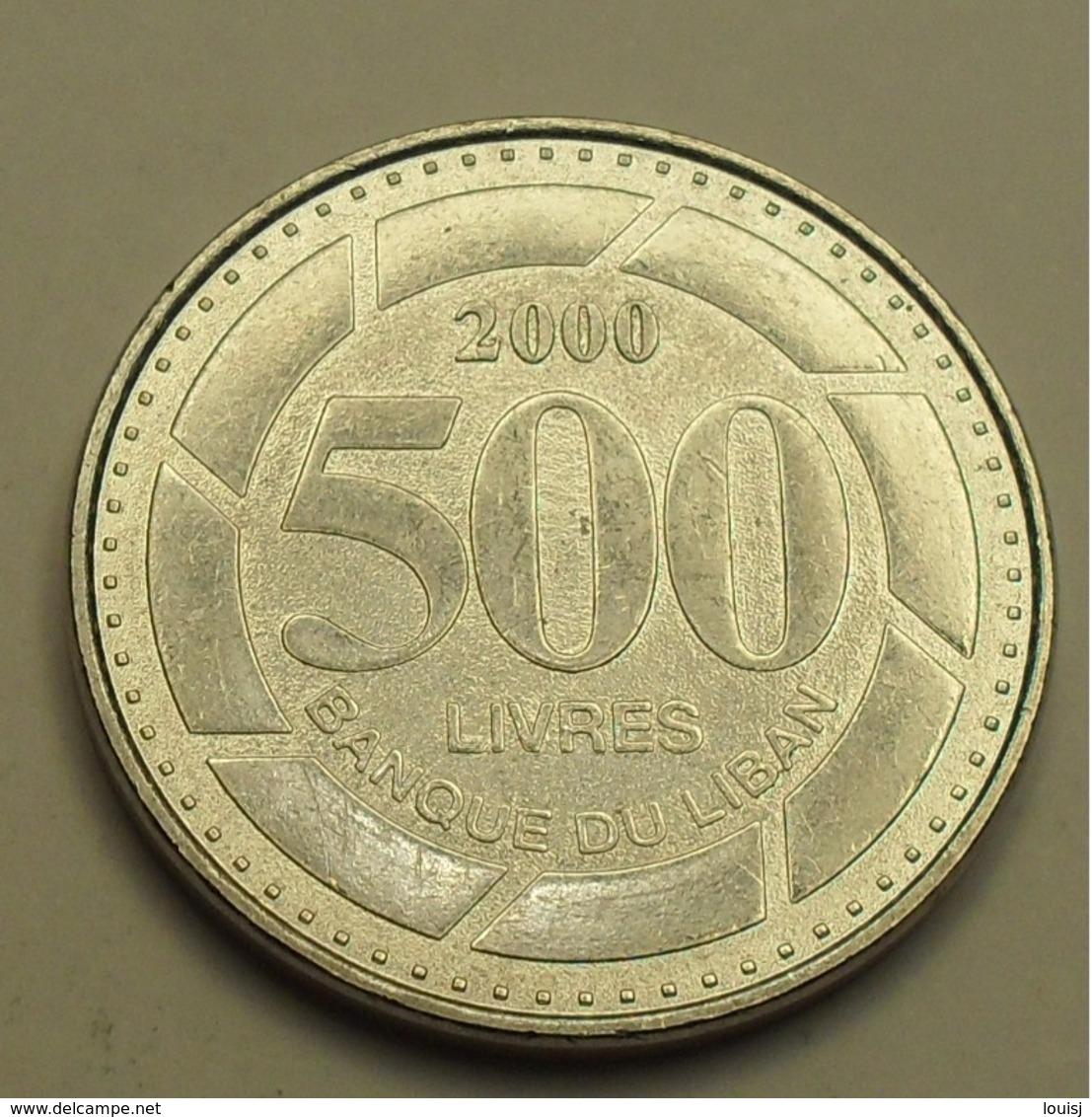 2000 - Liban - Lebanon - 500 LIVRES - KM 39 - Liban