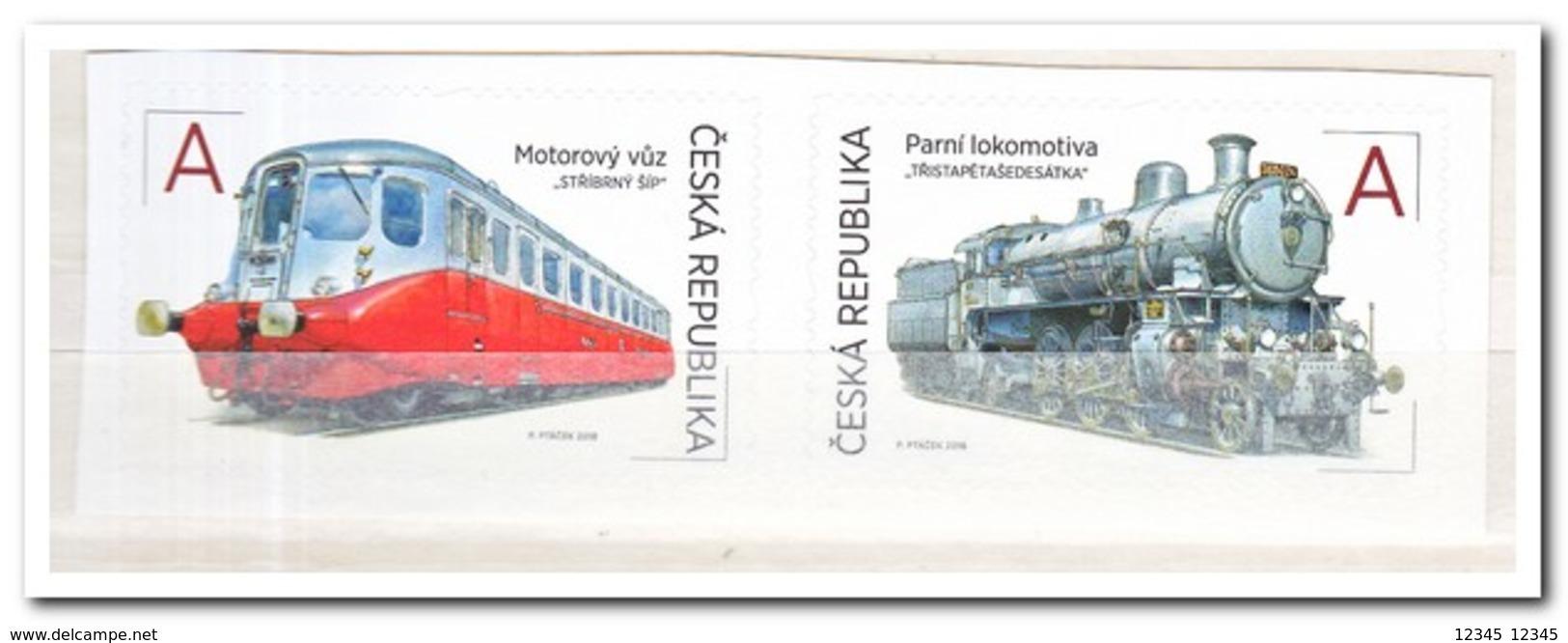 Tsjechië 2018, Postfris MNH, Trains - Tsjechië