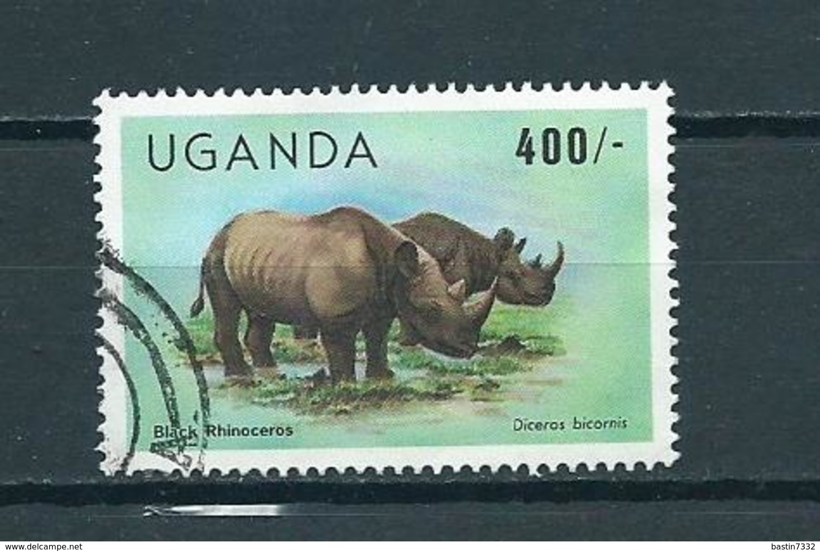 1983 Uganda Animals,dieren,tiere,rhino Used/gebruikt/oblitere - Oeganda (1962-...)