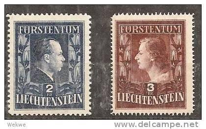 LieMi.Nr.304-05** 1951 Fürstenpaar MNH - Liechtenstein