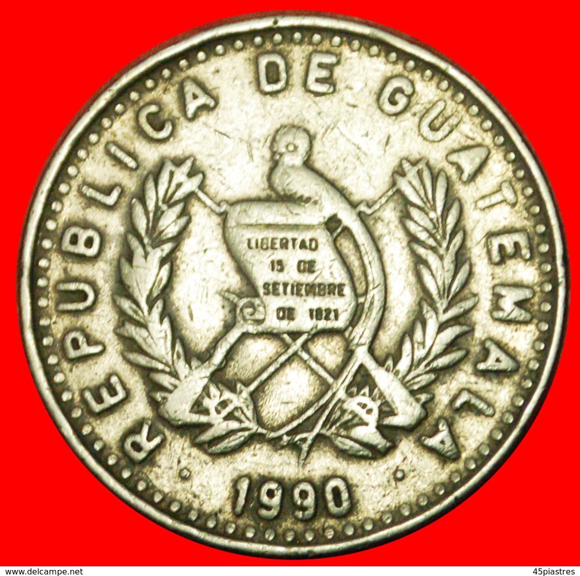 # BIRD (1977-2000): GUATEMALA ★ 25 CENTAVOS 1990! LOW START ★ NO RESERVE! - Guatemala