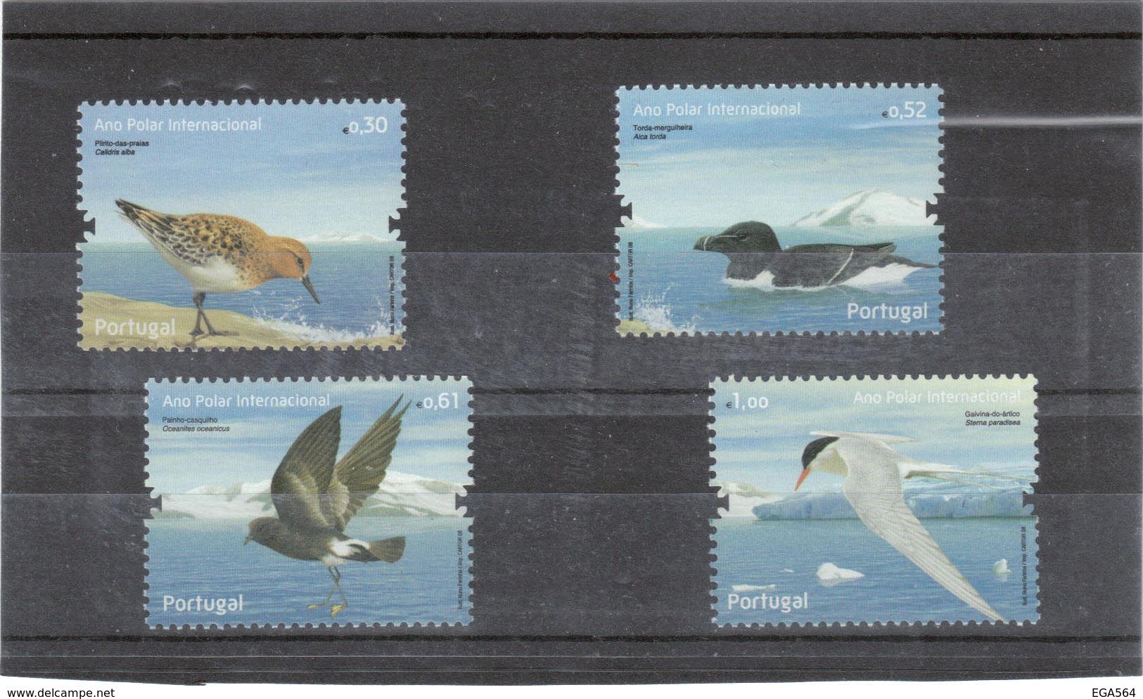 M31 - PORTUGAL - 3287/3290** MNH De 2008 - ANNEE POLAIRE INTERNATIONALE -  FAUNE - Oiseaux. - 1910-... République