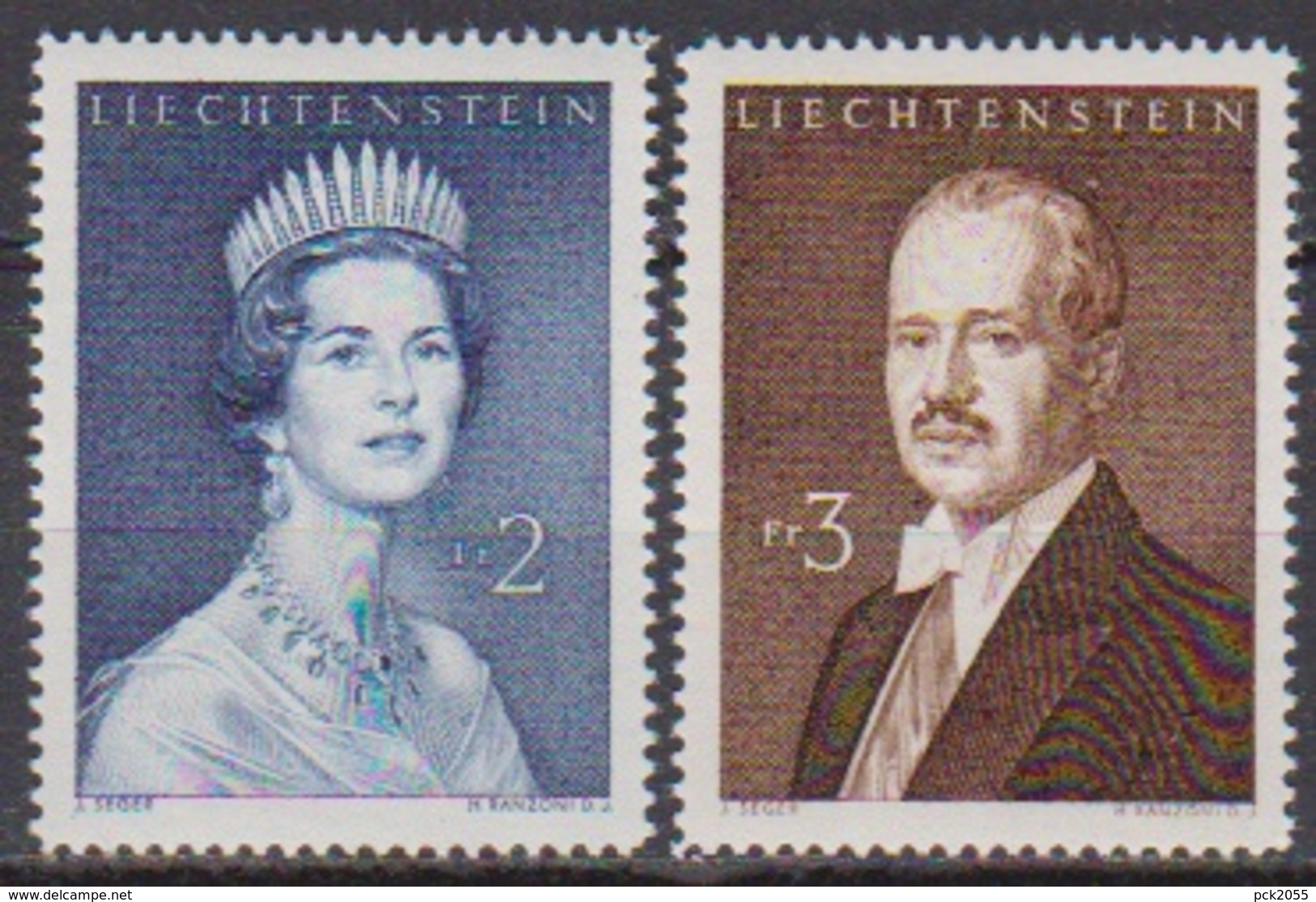 Lichtenstein 1960 MiNr.402 -403 ** Postfr. Fürstenpaar ( 8160 ) Günstige Versandkosten - Liechtenstein