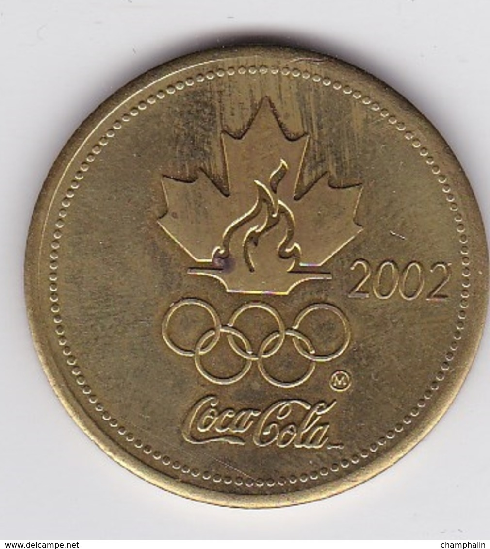 Canada - Jeton Publicitaire En Métal - Coca-Cola - Hockey-sur-Glace - Equipe Olympique JO 2002 - NHL - Mario Lemieux - Coca-Cola