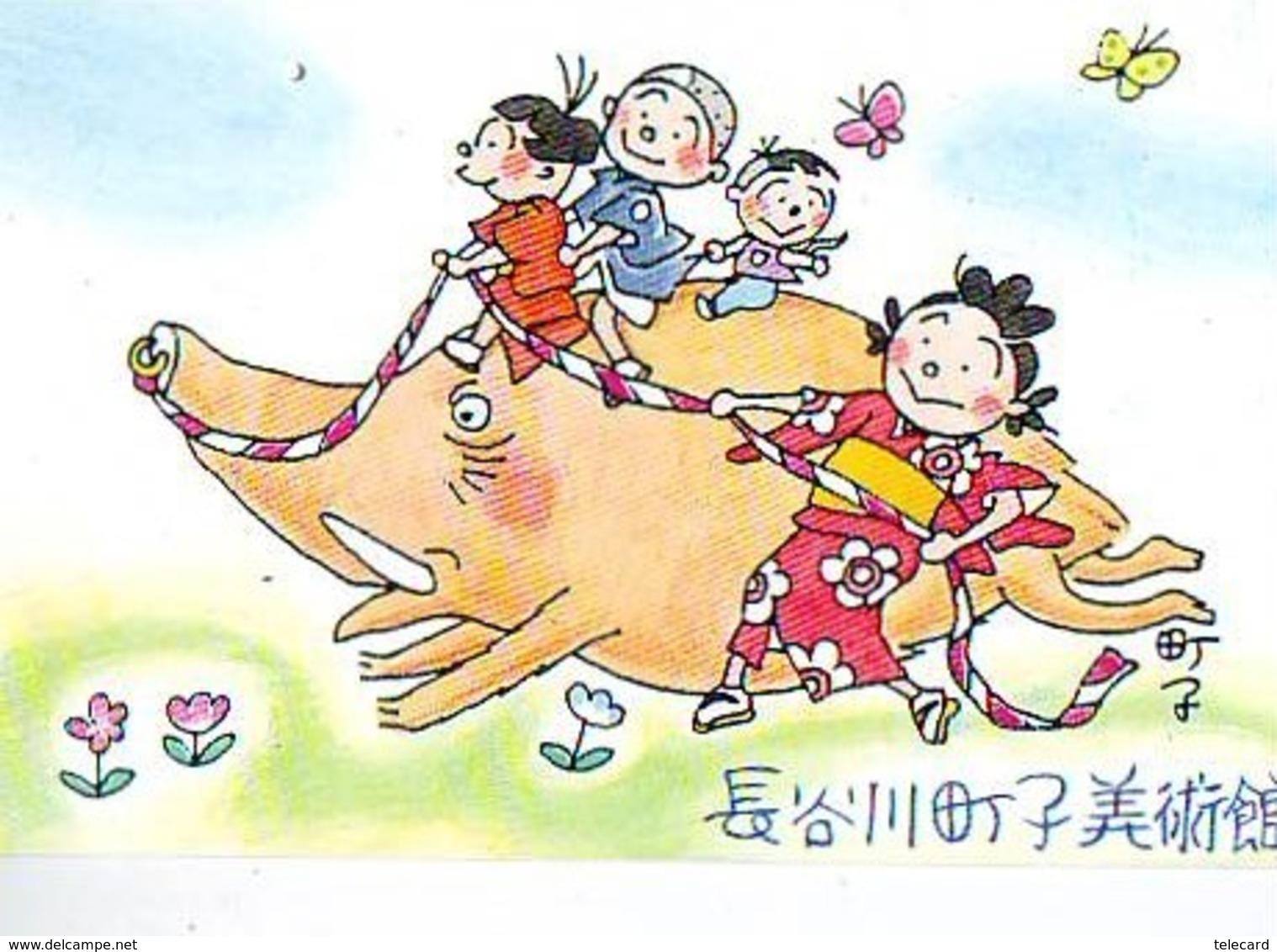 Télécarte Japon * YEAR Of The PIG (己亥) ZODIAC * (647) COCHON * PHONECARD JAPAN * TK * SCHWEIN * PORCO * VARKEN - Zodiac