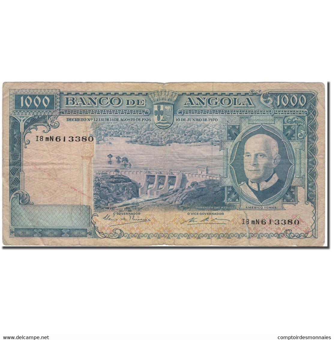 Billet, Angola, 1000 Escudos, 1970-06-10, KM:98, B+ - Angola