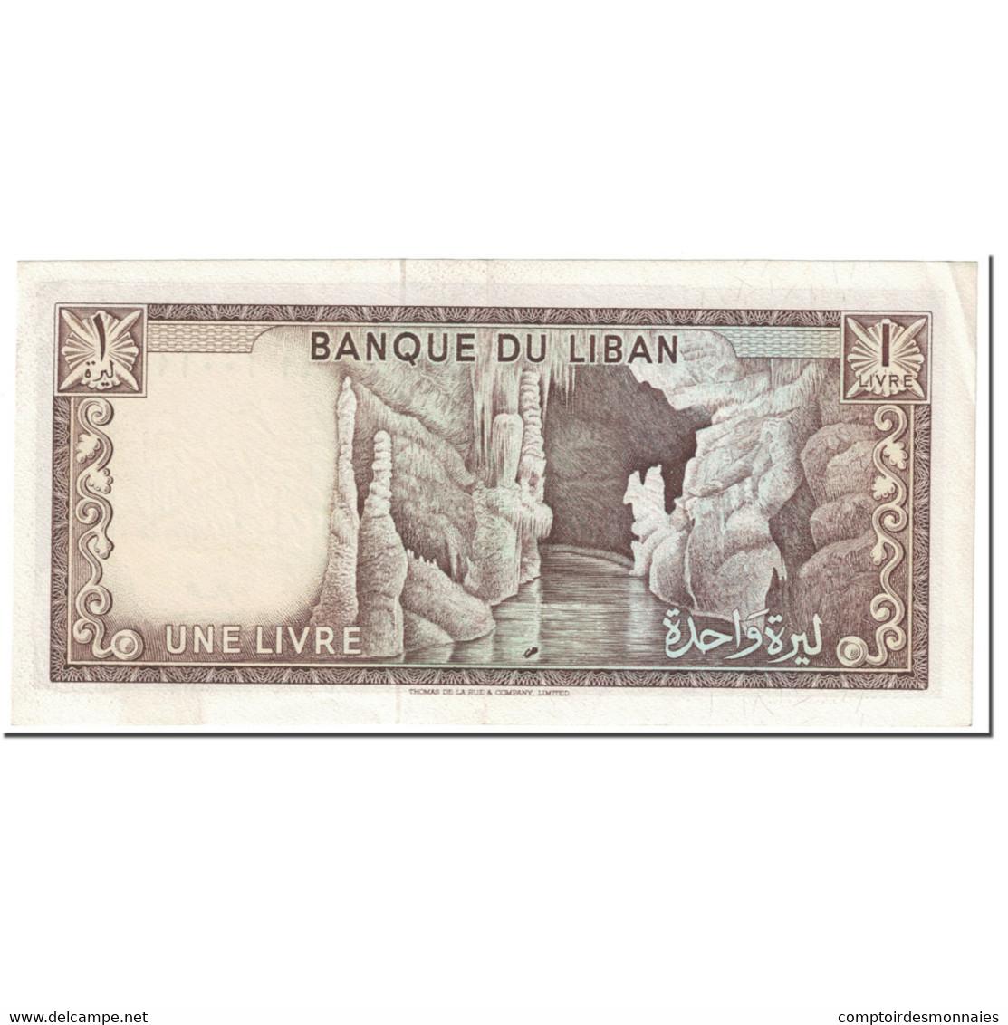 Billet, Lebanon, 1 Livre, 1968, Undated (1968), KM:61a, SPL - Liban