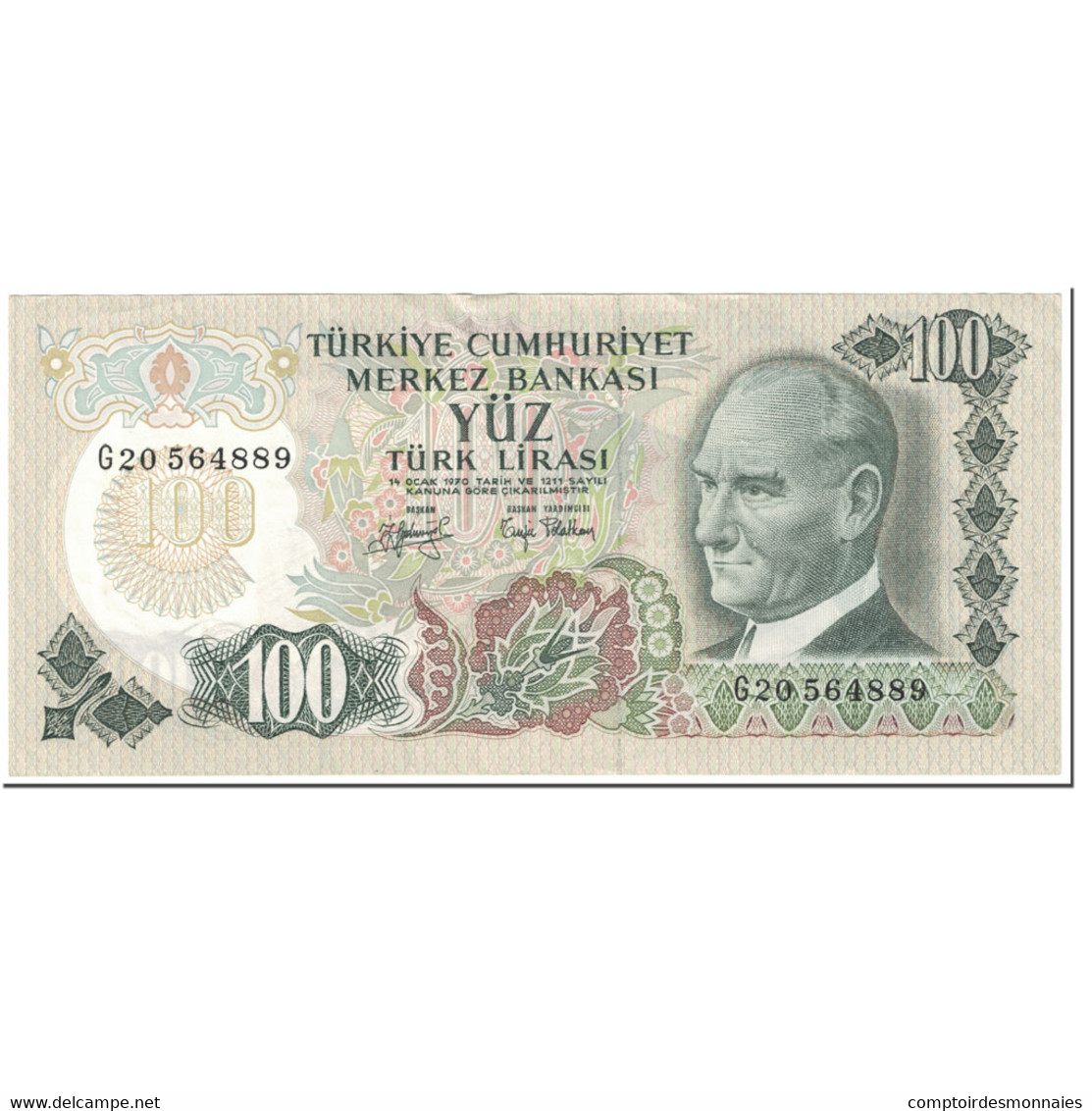 Billet, Turquie, 100 Lira, 1983-86, Undated (1983-86), KM:189a, NEUF - Turquie
