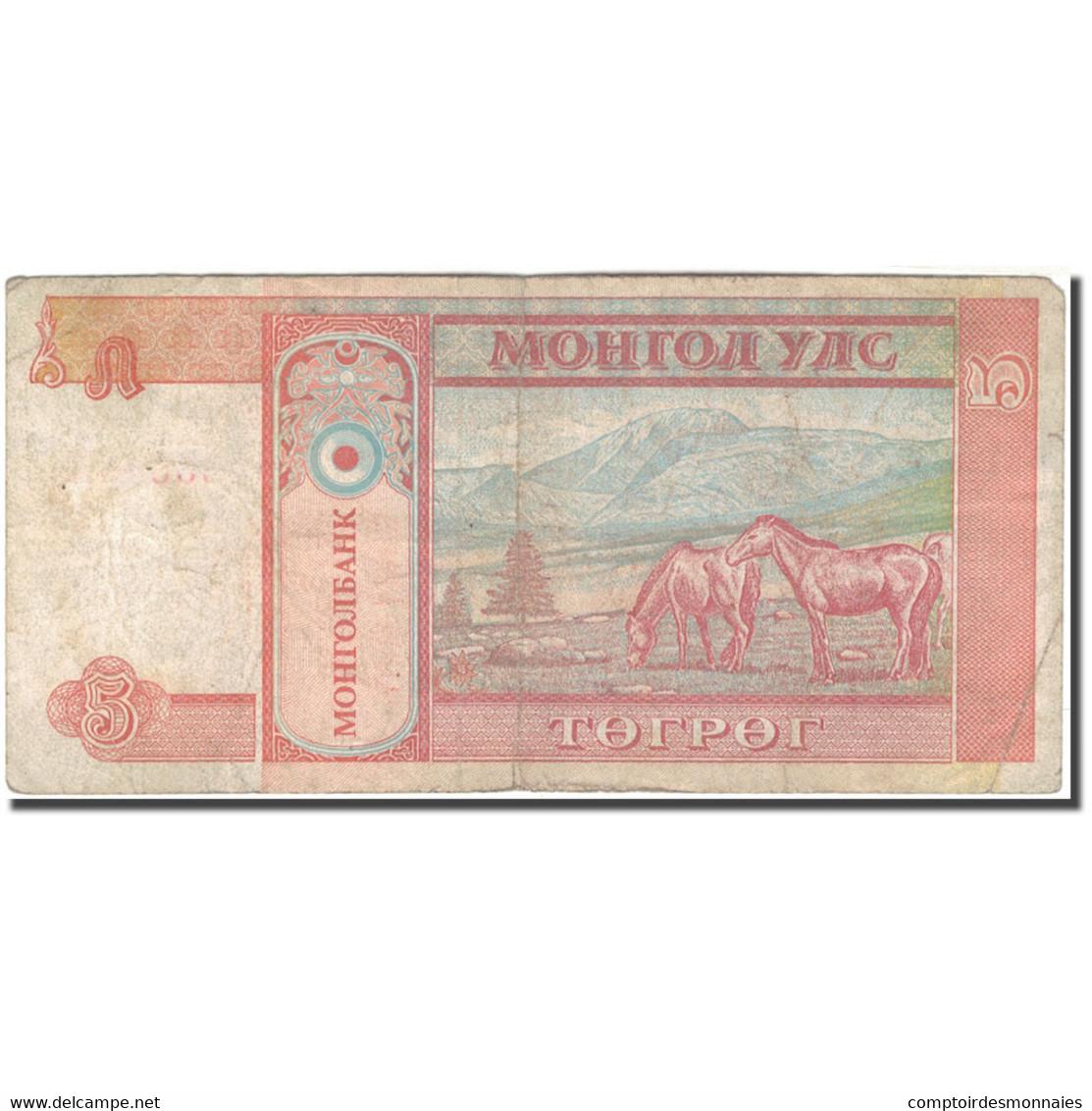 Billet, Mongolie, 5 Tugrik, KM:53, B+ - Mongolia
