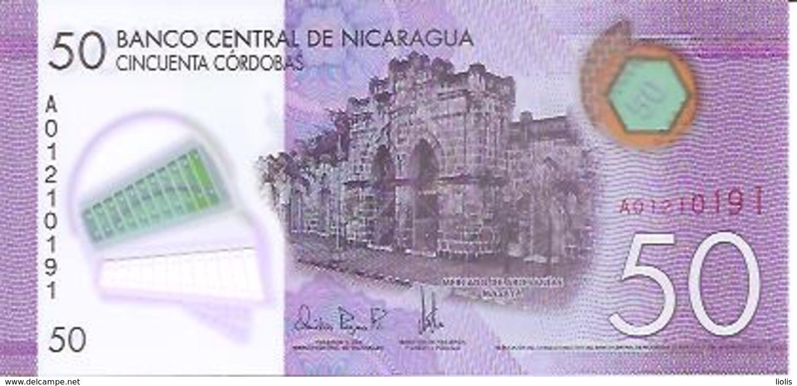 Nicaragua  P-216   50 Cordobas  2015  UNC - Nicaragua