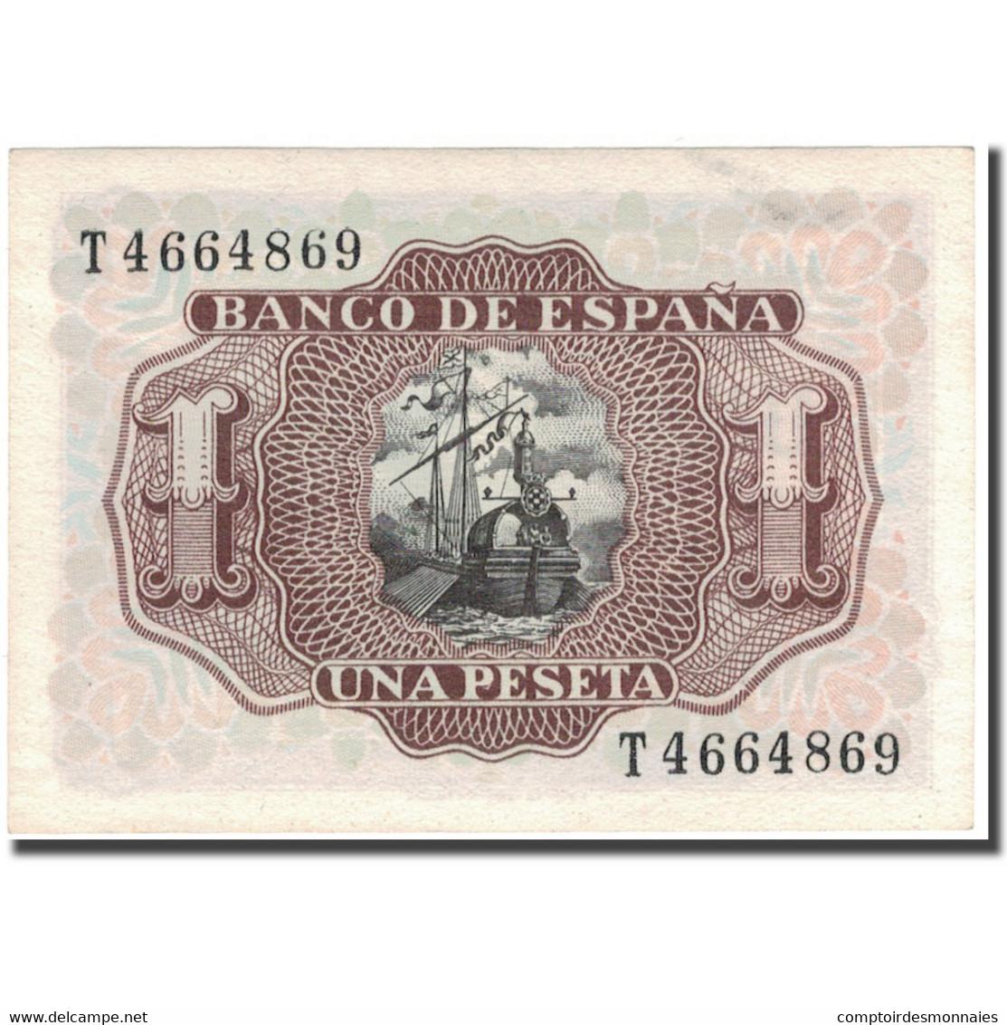 Billet, Espagne, 1 Peseta, 1953, 1953-07-22, KM:144a, SPL - 1-2 Pesetas