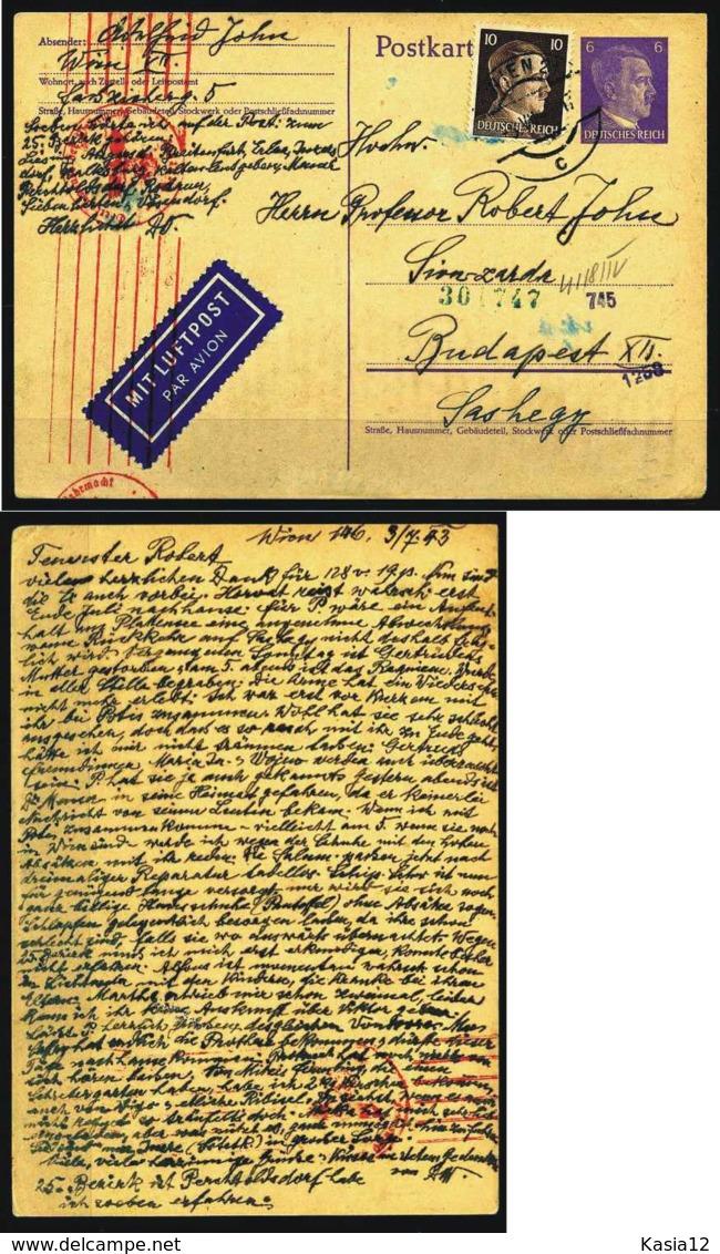 Z01704)DR Hitler-GA Mit LUPO + Wehrmachtszensur - Deutschland