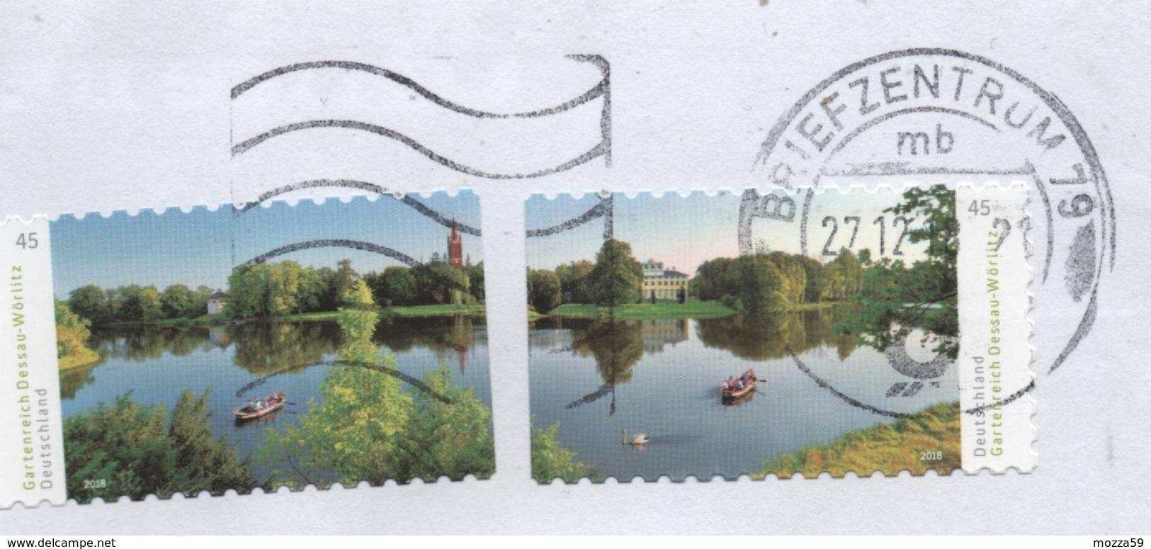 Germany  2018,  Letter To U.K. Gartenreich Dessau-Worlitz 2x Issues- Interesting - BRD