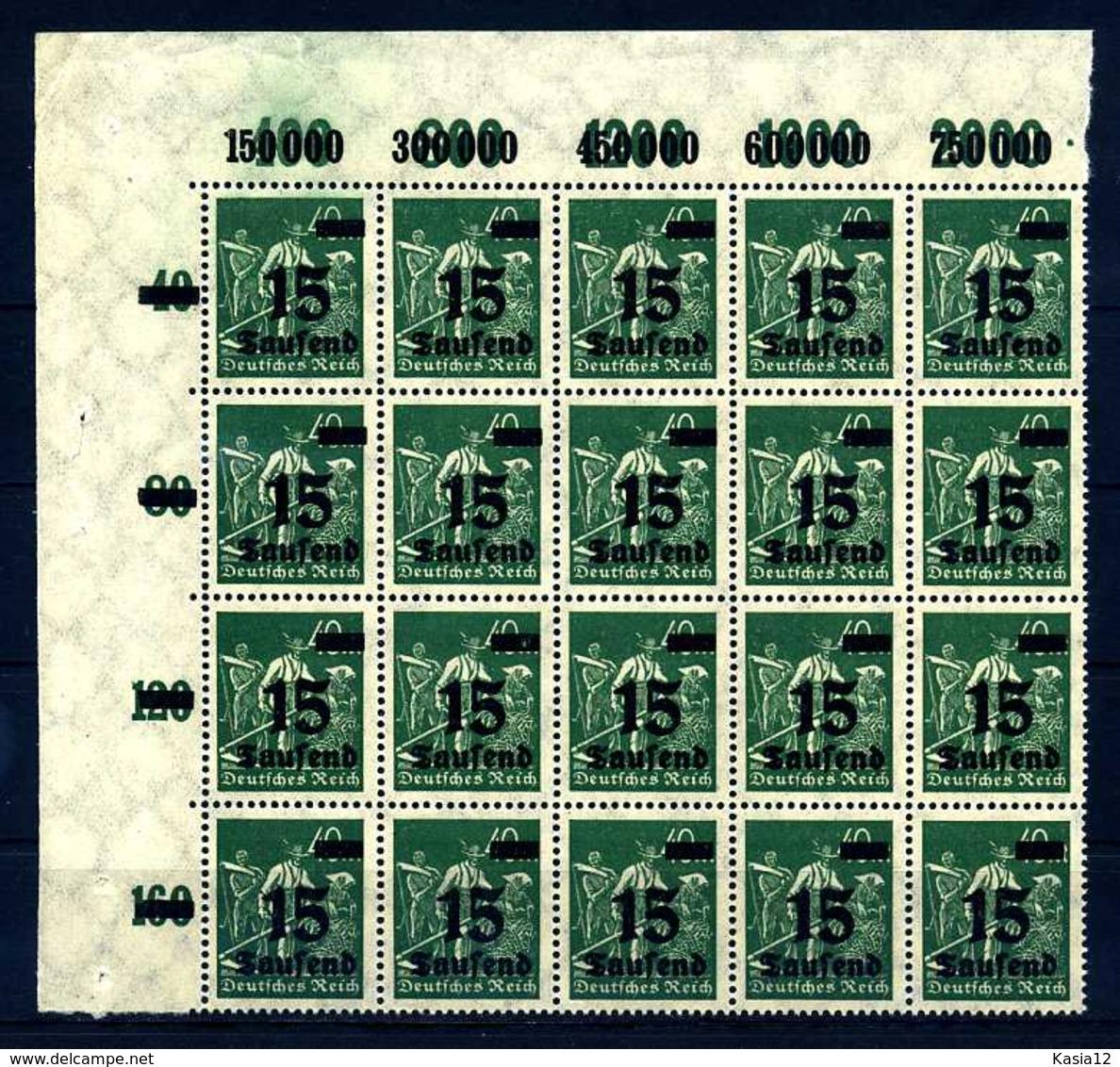 Z27065)DR 279 IV ER-20er-Block** - Neufs