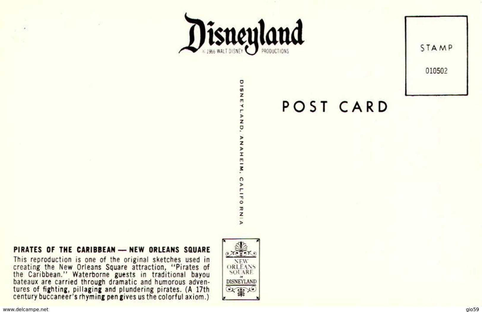USA - Disneyland - Pirates Of The Caribbean - New Orleans Square - Pirate   /LOT  623 - Disneyland