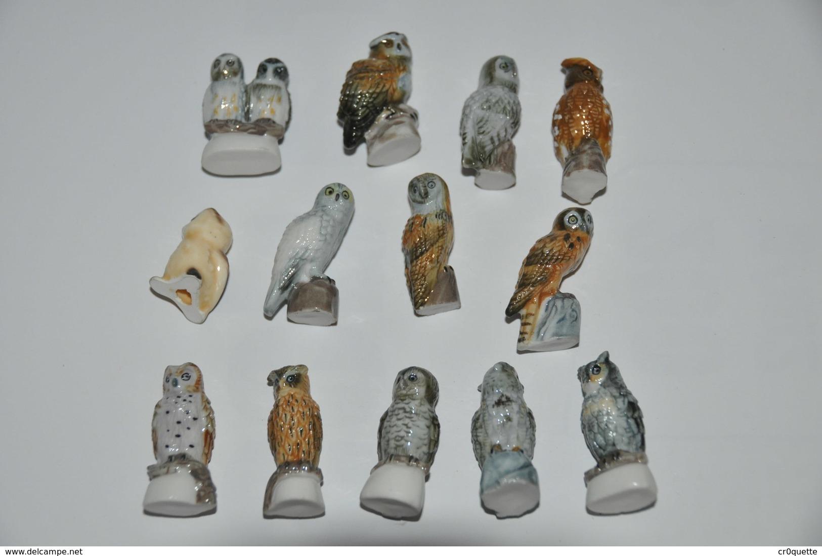 LOT DE 13 PETITES CHOUETTES - Oiseaux