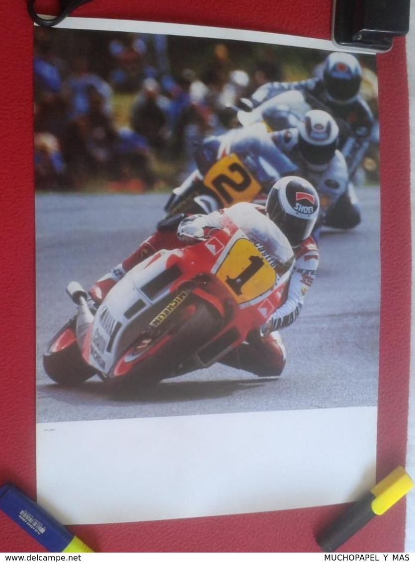 CARTEL POSTER MOTOS MOTO MOTOR MOTOCICLISMO 46 CM X 33,5 CM MOTORCYCLING RACE MOTOCYCLISME MOTORCYCLE MOTOCYCLE VER FOTO - Afiches