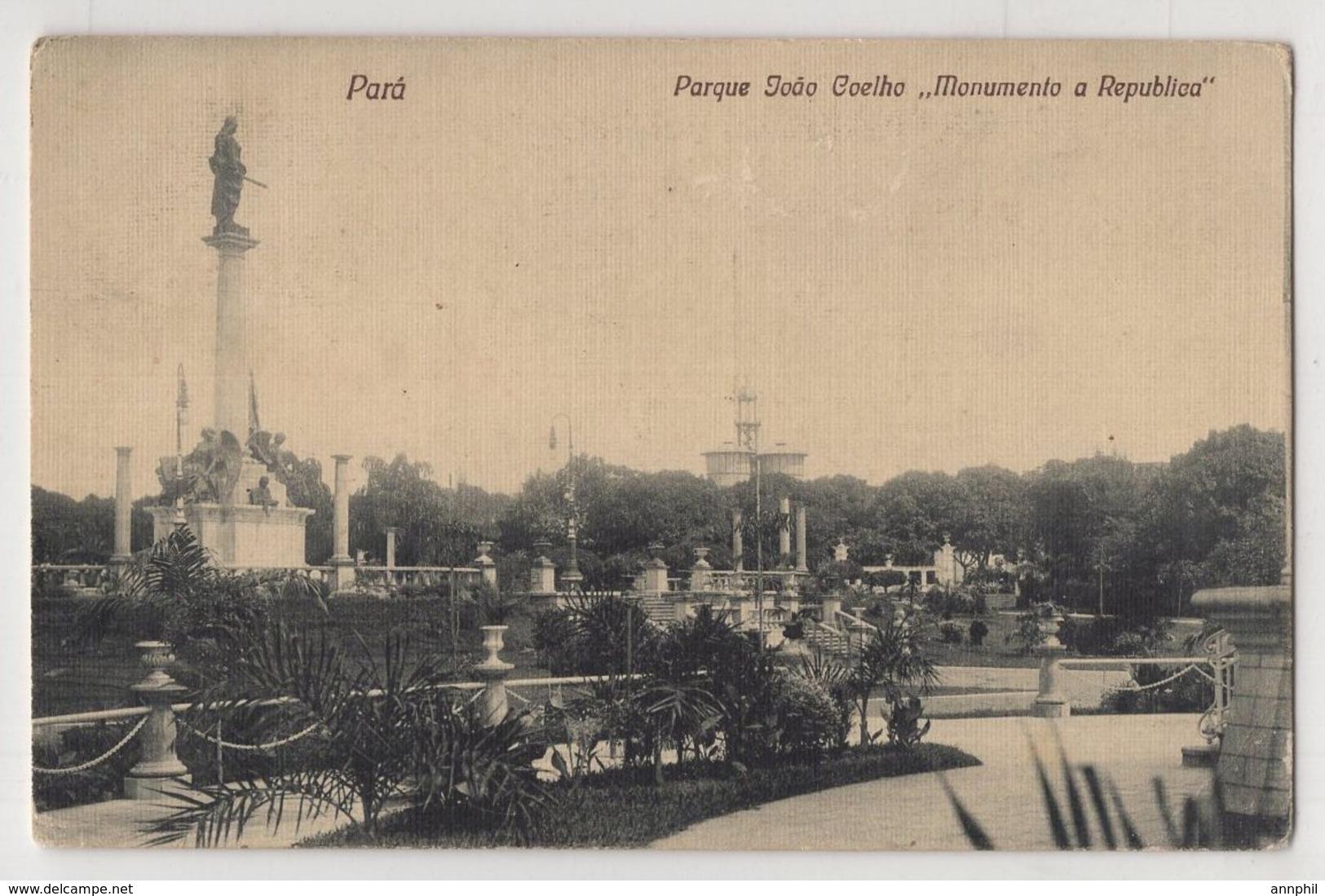 4800 Brazil Para Parque Joao Coelho Monumento A Republica - Manaus