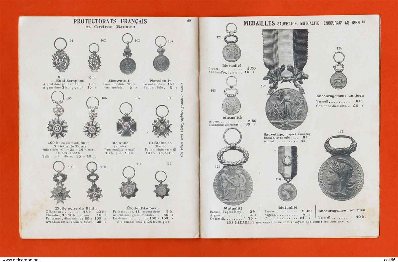 1914 Catalogue Bijoutier Diets Ordres Et Décorations Dont Rares LH Chine Madagascar Anjouan Sisowath Stanislas Ect - France