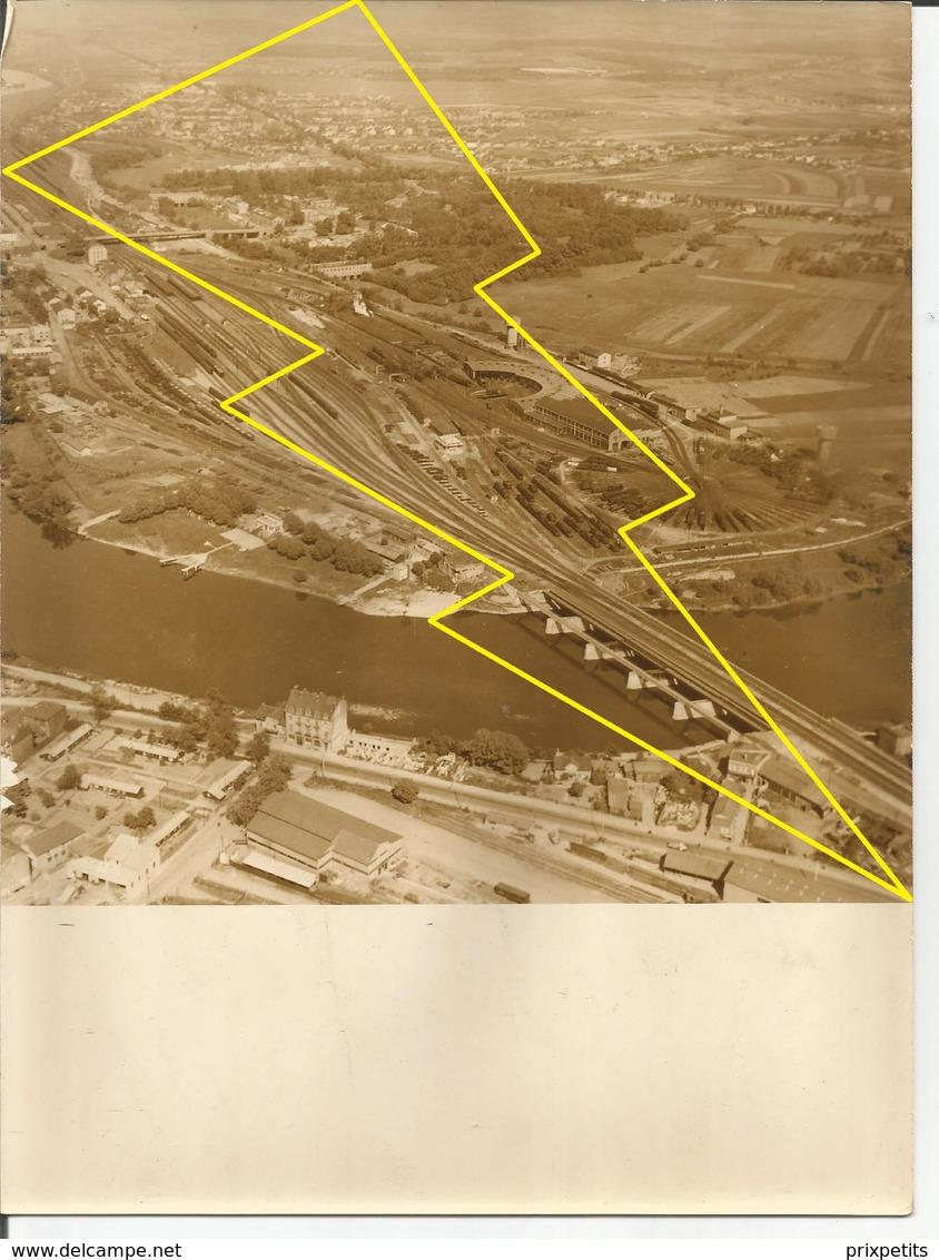 ° PHOTO AERIENNE  ° HAYANGE  OU ENVIRON ° CONTRUCTION  Ligne Se Chemin De Fer  ° USINE ° SIDERUGIE °°  N°  Ph 7 ° - France