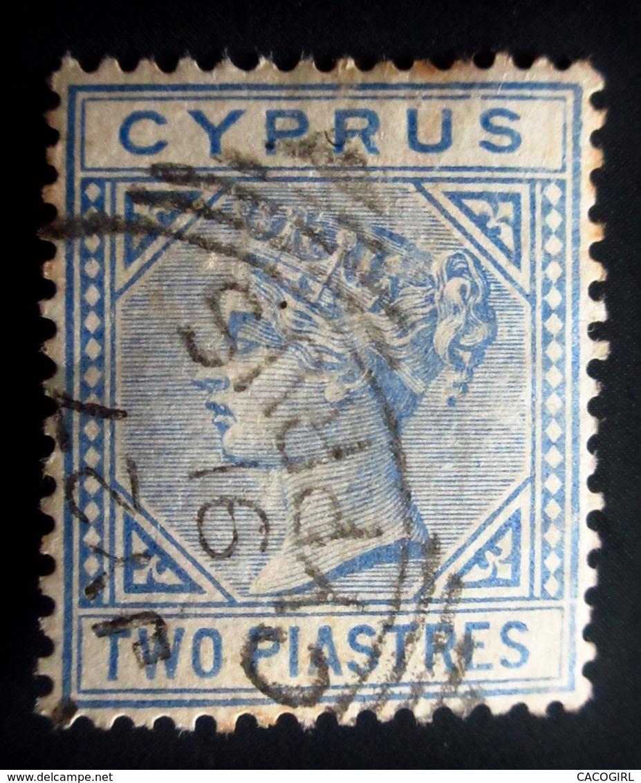1881 .Cyprus - Chypre Yt 11 , Mi 11 . Queen Victoria . Oblitéré Used - Chypre (...-1960)