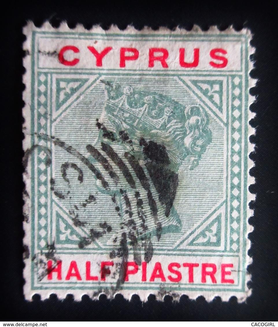 1896 .Cyprus - Chypre Yt 26 , Mi 24 . Queen Victoria . Oblitéré Used - Chypre (...-1960)