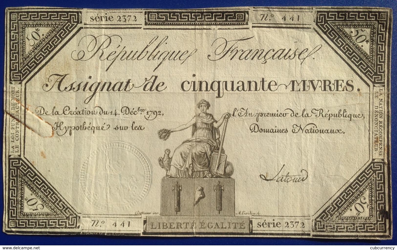 France 50 Livres - ...-1889 Tijdens De XIXde In Omloop