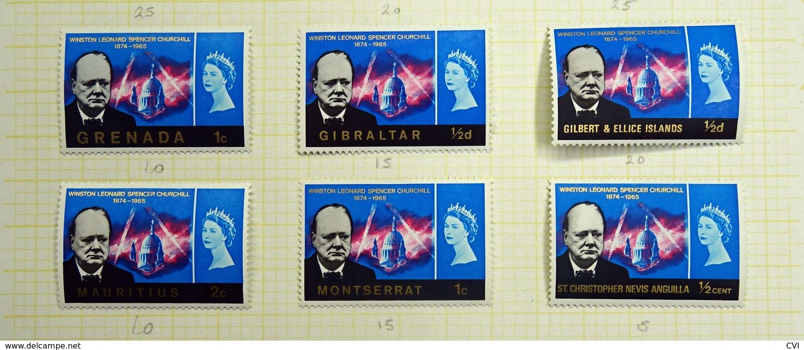 1966 Sir Winston Churchill Omnibus A-Z Mint MH. (19 Stamps) - Sir Winston Churchill