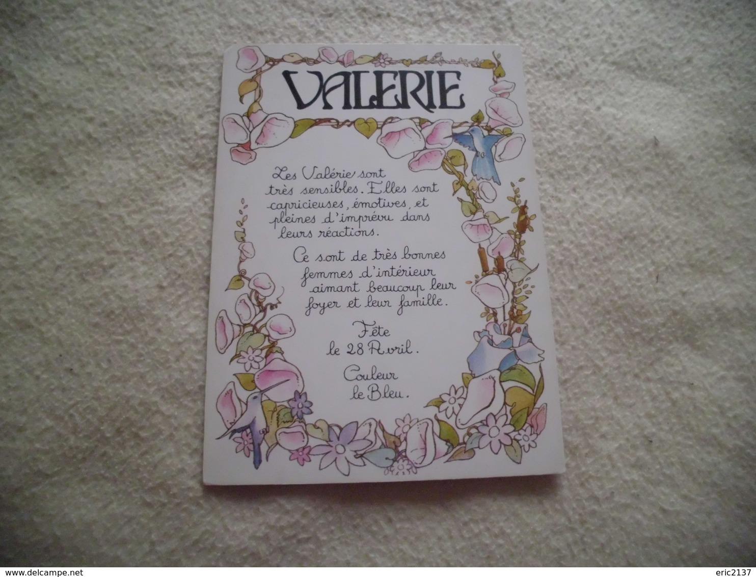 BELLE ILLUSTRATION PRENOM VALERIE - Prénoms