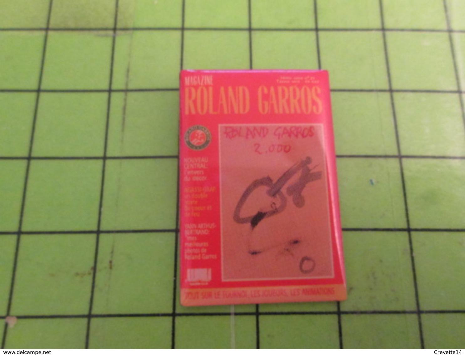 813G Pin's Pins / Rare & De Belle Qualité : THEME SPORTS / TENNIS PROGRAMME ROLAND GARROS 2000 - Tenis