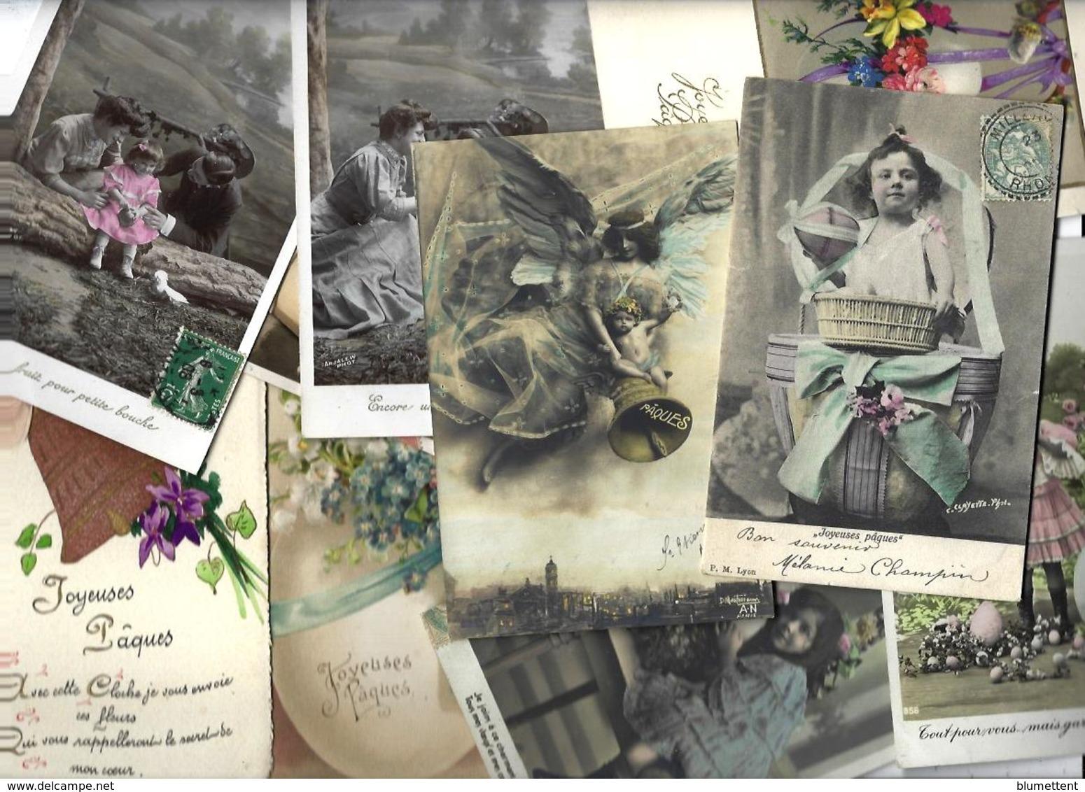 Lot N° 1566 De 10 CPA 9 X 14 Paques Oeuf Fantaisies Déstockage Pour Revendeurs Ou Collectionneurs - Cartes Postales