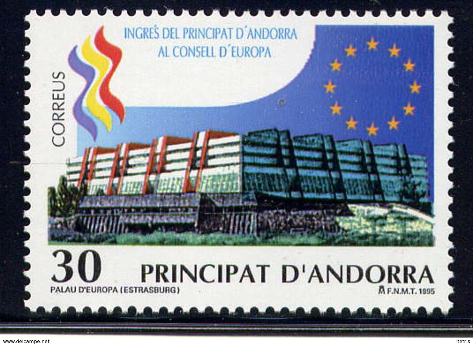 ANDORRE ESP. - 234** - ENTREE  D'ANDORRE AU CONSEIL DE L'EUROPE - Andorre Espagnol