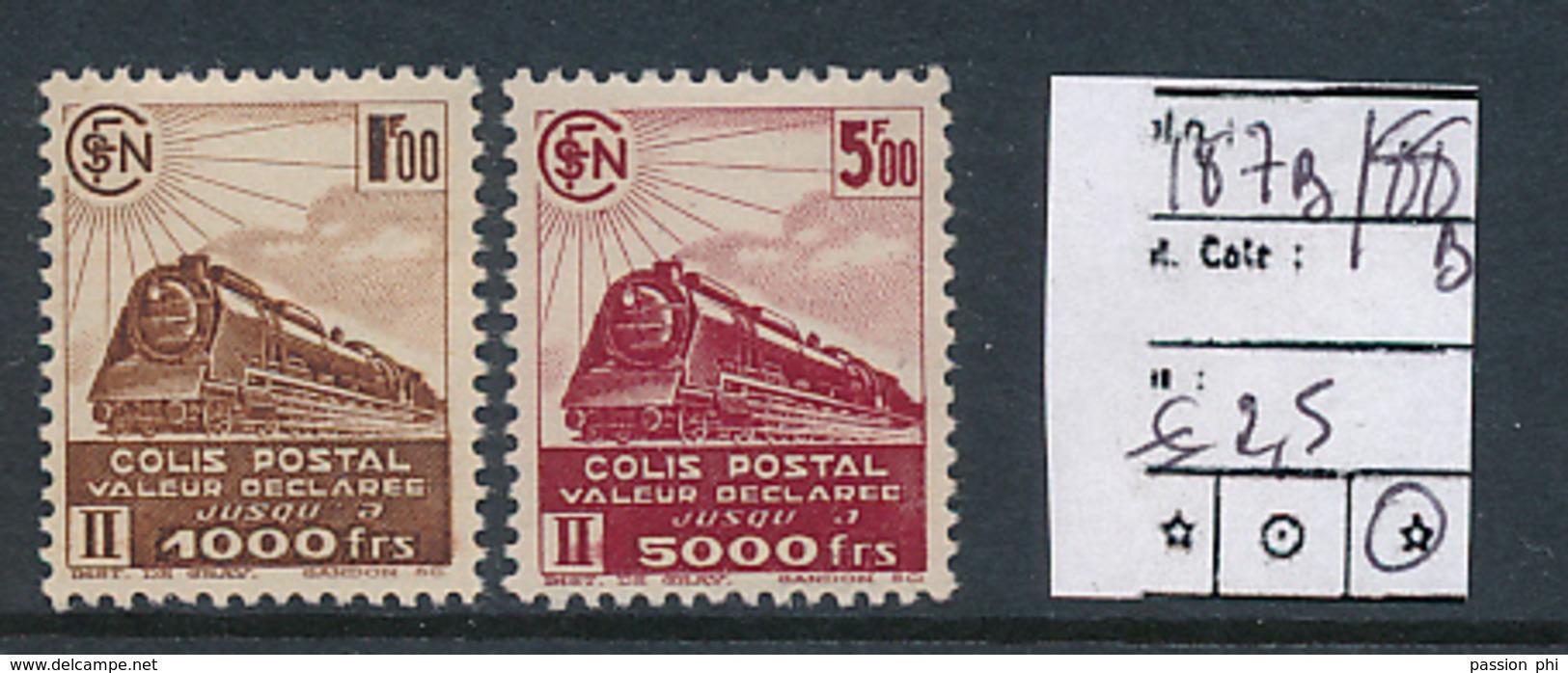 FRANCE CF YVERT 187B/188B LH - Colis Postaux