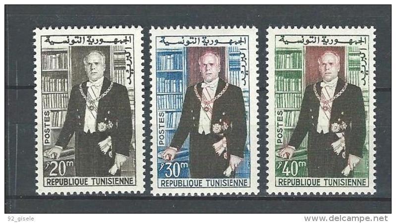 "Tunisie YT 507 à 509 "" Président Bourguiba "" 1960 Neuf** - Tunisia"