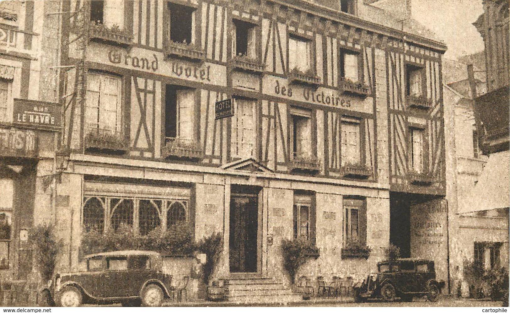 76 - YVETOT - HOTEL DES VICTOIRES 1935 (format 13x8 Cm) - Yvetot