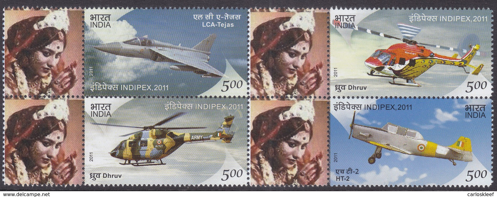 India - My Stamp New Issue 12-02-2011 (Yvert 2375-2378) - Unused Stamps