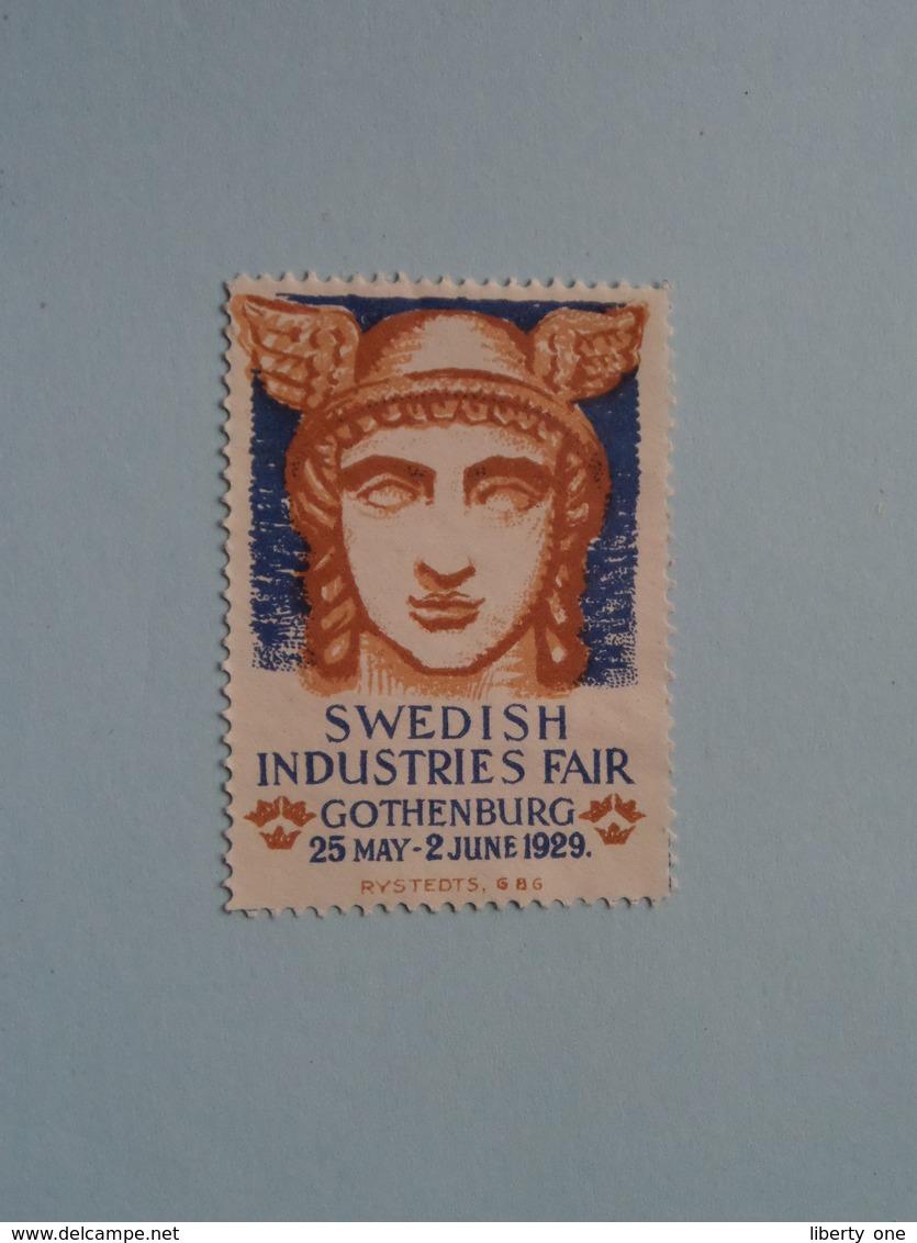 SWEDISH INDUSTRIE FAIR 1929 GOTHENBURG ( Sluitzegel Timbres-Vignettes Picture Stamp Verschlussmarken ) ! - Cachets Généralité